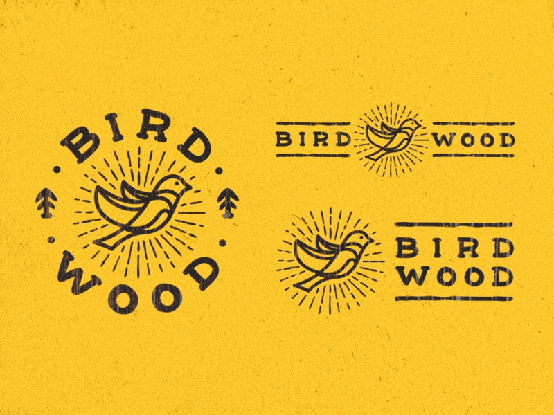 BirdWood logo wood bird craft logo line furniture manufacture