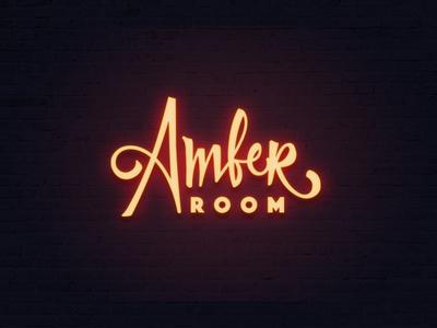 Amber Room #2 shop handmade calligraphy typography typo type logo room amber lettering