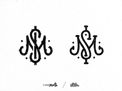MS/M$ monogram yo letter typography ms sketches calligraphy lettering typemate monogram s m