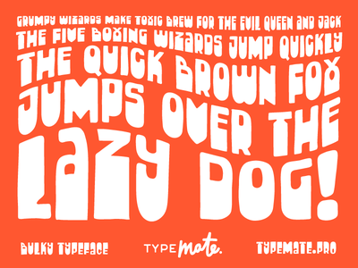 Bulky typemate typeface free free font handwritten lettering type typography font bulky free typeface