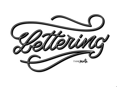 Lettering logotype logo type custom type typography calligraphy lettering typemate