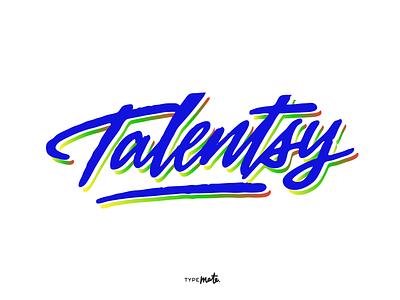 «Talentsy» logo sketch logotype logo type custom type typography calligraphy lettering typemate