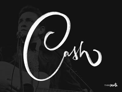 Johnny Cash typemate lettering calligraphy typography custom type type logo logotype sketch johnny cash musician