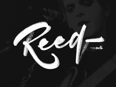 Lou Reed logotype logo type custom type glitch ipad lettering typography calligraphy lettering typemate