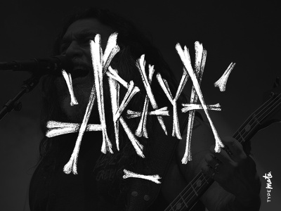 Tom Araya slayer tom araya logotype logo type custom type typography calligraphy lettering typemate
