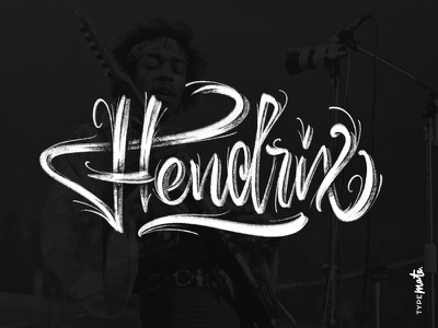Jimi Hendrix hendrix procreate ipad lettering logotype logo type custom type typography calligraphy lettering typemate