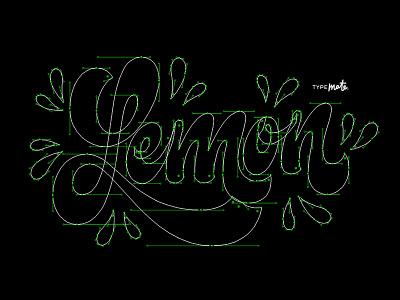 Lemon vector lemon logotype logo type custom type typography calligraphy lettering typemate