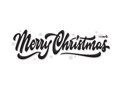 Merry Christmas By Typemate postcard vector free christmas logo type custom type typography calligraphy lettering typemate