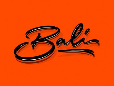Bali behance bali logotype logo type custom type typography calligraphy lettering typemate