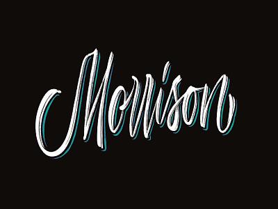 Morrison morrison logotype logo type custom type typography calligraphy lettering typemate