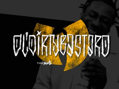 ODB logo typography dirty lettering wutang odb rap typemate