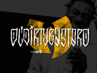 ODB logo typography dirty lettering wutang odb rap typemate