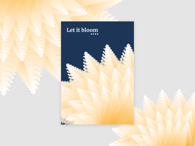 Bloom typogaphy poster a day poster vector clean print minimal illustration simple