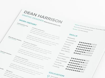 Free Simple Resume  simple clean modern curriculum vitae white resume typography free resume freebie