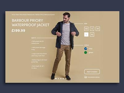 Barbour Concept ui flat material website design modern simple daily ui