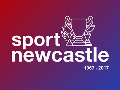 Sport Newcastle Logo icon sports charity gradient branding concept logo