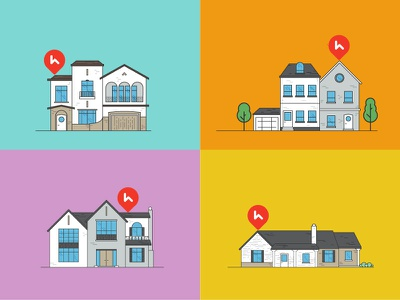 Haus Illustrations home house icon concept print vector flat simple illustration