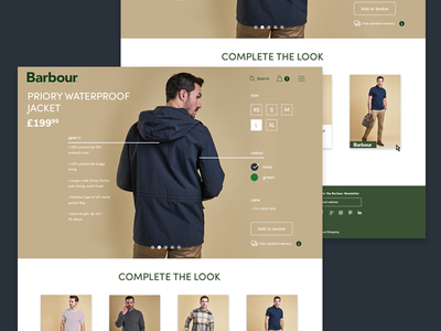 Collections Concept - cont. clean product shop fashion modern ecommerce concept ui daily ui website