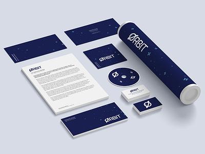 Orbit Branding space print modern typeface stationary logo tech clean simple branding brand