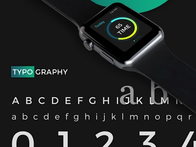 Typography Timer Wearable App