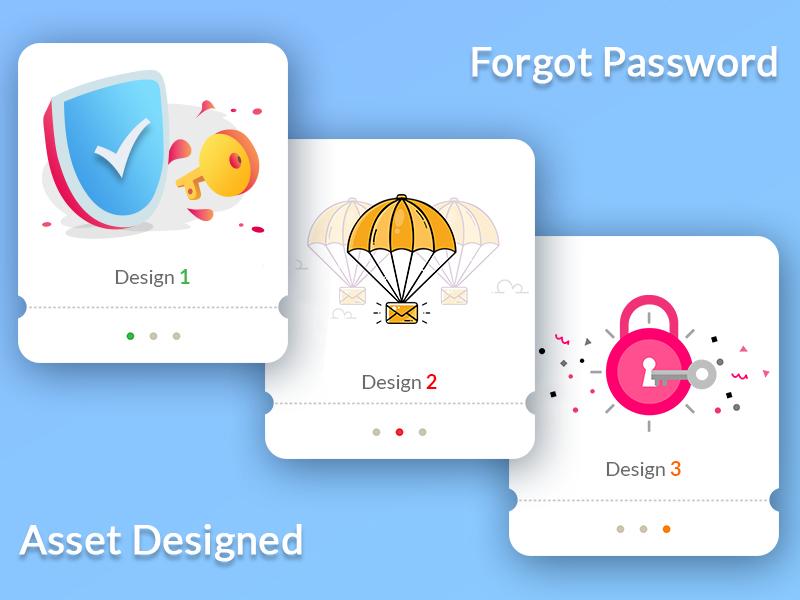 Forgot Password (Asset Designed) illustration asset designed forgot password