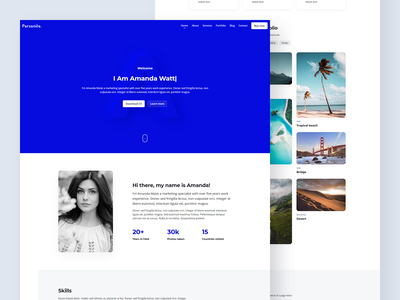 Personite - Portfolio CV Resume Theme ui developer designer homepage personal portfolio personal website web design resume portfolio landing page landing