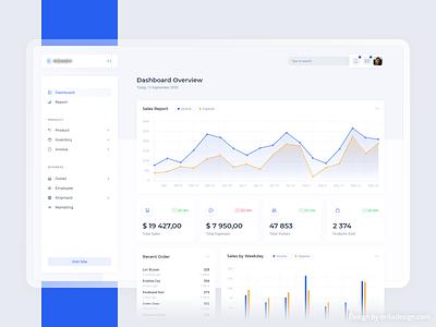 Dashboard / E-commerce Website adobe xd statistic statistics user interface clean admin dashboard ecommerce interface web app uiux ux ui timeline stats graph design admin dashboard app analytics