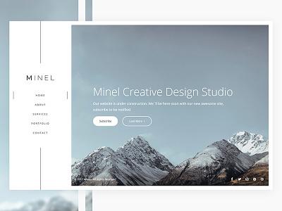 Minel - New project light web ui menu nav side home