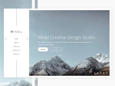 Minel - New project light web ui menu nav side home