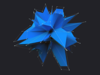 Blue Polygon