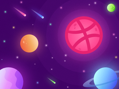 Dribbble Space dribbble illustration stars planets galaxy space