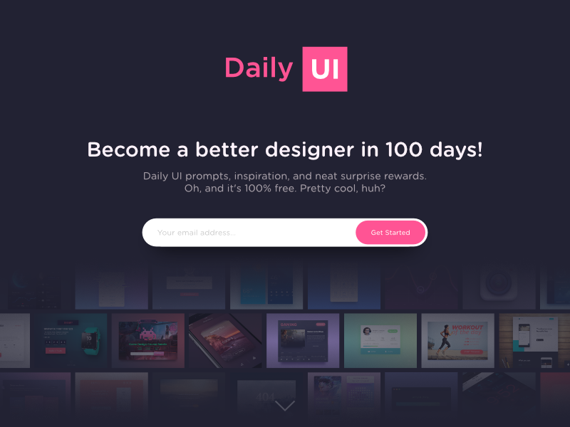 Daily UI #100 - Redesign Daily Ui website ux ui splash redesign page landing page landing daily ui dailyui daily