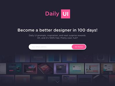 Daily UI #100 - Redesign Daily Ui website ux ui splash redesign page landing page landing daily ui dailyui daily