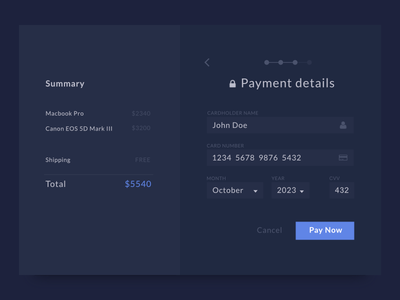 Payment Details ui payment credit card checkout buy ecommerce order shop card
