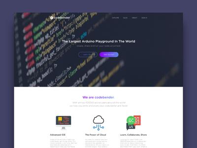 Codebender Landing Page Redesign