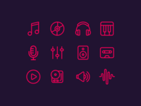 🎵 Music Icons (Freebie)