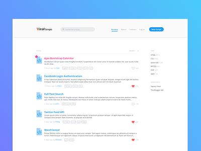 Viral Scripts ui ux web landing page redesign website splash landing page homepage