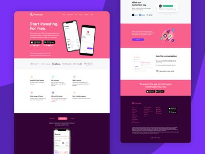 Freetrade Landing Page