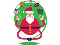 Santa Claus yoga pose