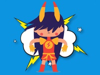 ANGRY SUPERPOWER HORN GIRL