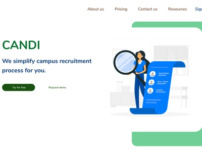 CANDI - campus recruitment Landing page