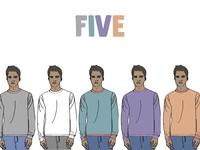 Five guy line up