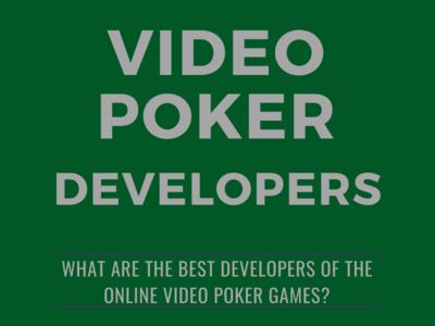 Best Video Poker Developers video poker design gambling infographic
