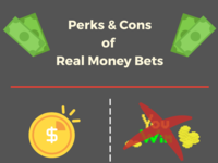 Perks  and Cons of Real Money Bets in Online Casinos casino gambling infographic