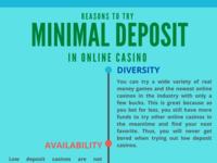 Reasons To Try Minimum Deposit In Online Casino deposit casino gambling infographic