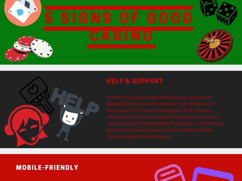 5 Signs Of Good Casino canada online casino casino infographics
