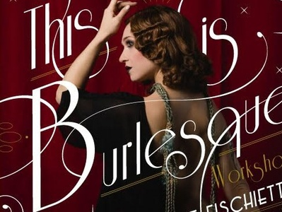 This is Burlesque illustrator poster design vector font lettering daily lettering art