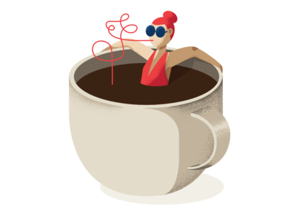 sippin' cup coffee design illustration