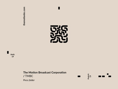 TMBC // Press folder indesign layout design layout minimal design branding