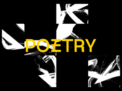 Poetry // First edition vector illustrator design